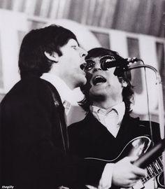 The Beatles perform at the Ernst Merck Halle, Hamburg, 26 June 1966