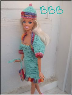 Barbie Clothes Crochet Ensemble Outfit by BarbieBoutiqueBasics