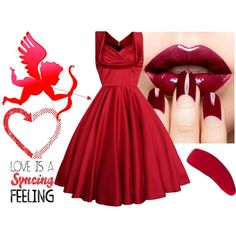 """""""Red"""" by minelik on Polyvore"""