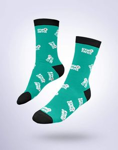 Givin it Green Socks Sock Tattoo, Flower Thigh Tattoos, Leg Tattoos, Arm Tattoo, Green Socks, Green Heels, Teal Accents, Socks And Sandals, Designer Socks