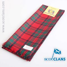 MacIntosh Modern Tartan Scarf. Free worldwide shipping available