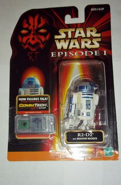 star wars action figures R2-D2 booster rockets episode I 1 1999 hasbro toys moc mip mib