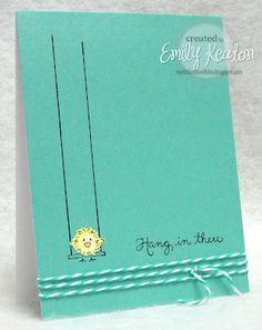 DeNami Hang In There Chickie card by Emily