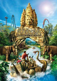 """#PortAventura dévoile """"#Angkor : Aventure au royaume perdu"""", un parcourt interactif sur des radeaux équipés de pistolets à eau. #ThemeParks"""