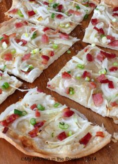 """Flammkuchen   Thin Pizza We had Flammkuchen in Germany and France. As the German's would say """"Enjoy!"""""""