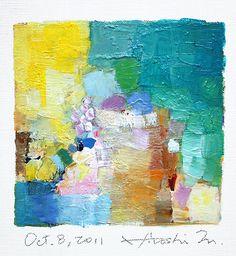 Oil on canvas 9 cm x 9 cm Hiroshi Matsumoto Look at these colors.... B E A U T I F U L !!!