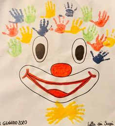 Le Clown, Kirigami, The Balloon, Nail Colors, Carnival, Crafts For Kids, Balloons, Preschool, Projects To Try