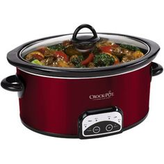 Crock-Pot Slow Cooker, Red, 6-Quart $29.92   #therafitgives #Therafit, www.therafitshoe.com