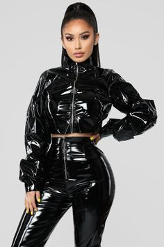 Miss Behaving Pant Set – Black – fashion nova outfits Sexy Outfits, Gothic Outfits, Fashion Outfits, Womens Fashion, Fashion Beauty, Vinyl Clothing, Latex Pants, Latex Lady, Leder Outfits