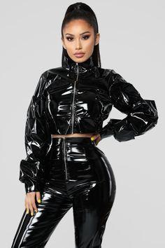 Miss Behaving Pant Set – Black – fashion nova outfits Sexy Outfits, Gothic Outfits, Mode Outfits, Fashion Outfits, Womens Fashion, Fashion Trends, Vinyl Clothing, Latex Pants, Dolly Fashion