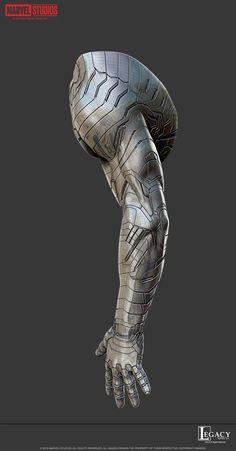 Marvel Films, Marvel Dc, Marvel Comics, Dope Cartoons, Dope Cartoon Art, Armor Concept, Weapon Concept Art, Winter Soldier Cosplay, Character Art