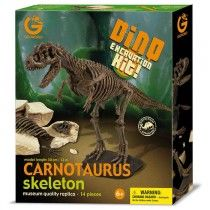 GeoWorld Realistic Museum Quality Carnotaurus Dinosaur Skeleton Fossil Excavation Dig Kit Toy | Nothing But Dinosaurs