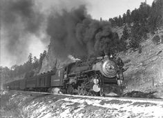 Weren't the Rio Grande beautiful passenger engines? It's a rhetorical question. There had Betty Grable legs and Betty Davis eyes. Diesel Locomotive, Steam Locomotive, Pullman Train, Milwaukee Road, Old Trains, Train Pictures, Sight & Sound, Steam Engine, Train Tracks