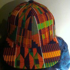 cewax.fr aime cette casquette en tissu africain wax style ethnique afro tendance tribale african print ankara kente orange