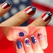 "You've thought of the hair, the clothes, the shoes. Now all you need are the perf nails to wear this Fourth of July as you're dazzled by fireworks. Search no further! The girls at GL have found (thank you Pinterest!) the perf red, white and blue mani which is sure to make family, friends, and strangers ""ooh"" and ""ahh""! Low on time? We've found easy-peasy patriotic nail wraps! These are definitely rad, white, and blue. Be a star with your starry tips!"
