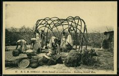 Construction of Somali nomadic home (Aqal Somaali)