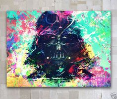 Star Wars DARTH VADER Portrait Oil Painting On Canvas