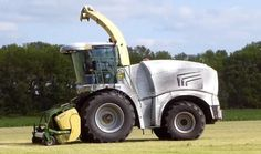 New krone self propelled forager.