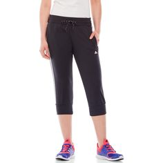 Adidas Sport Essentials 3-Stripe Capri Pants ($35) ❤ liked on Polyvore featuring activewear, activewear pants, white, sports activewear, adidas, adidas activewear and adidas sportswear