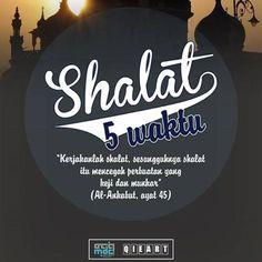 Dengan Sholat, ada perlindungan اللّهُ.....