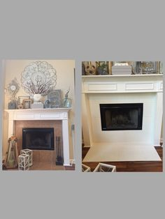 Fireplace (mini) facelift | For the Home | Pinterest | Minis ...