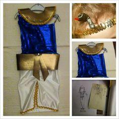 Disfraz de cleopatra niña hecho a mano