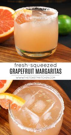 Fancy Drinks, Summer Cocktails, Cocktail Drinks, Cocktail Recipes, Hard Drinks, Grapefruit Margarita Recipe, Margarita Recipes, Fruit Drinks, Smoothie Drinks