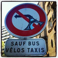 street art by Clet in Paris rue Botzaris  http://restreet.altervista.org/clet-lartista-dei-cartelli-stradali/