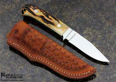 S.R. Johnson Custom Knife 30th Anniversary Stag - S.R. Johnson custom knife - image 1