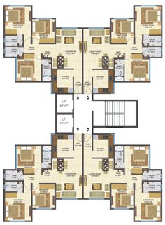 97 Comfortable Apartment Layout Ideas 29 - Home Sweet Building Layout, Home Building Design, Home Design Plans, Building Plans, Modern House Plans, House Floor Plans, Architecture Plan, Residential Architecture, Residential Building Plan