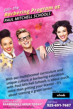 With our multifaceted curriculum and unique culture, a #barbering education with Paul Mitchell Schools is about much more than getting your license - it's about starting a great career.