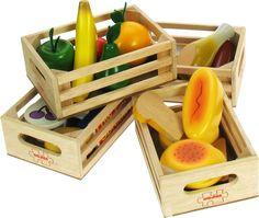 Bigjigs Toys BJ316 Aliments Jouets En Bois Lot de Produits Laitiers Alimentation Saine: Amazon.fr: Jeux et Jouets
