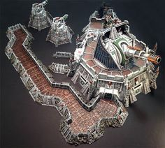 Deep Thought: The Fortress Player - Bell of Lost Souls Warhammer Terrain, 40k Terrain, Game Terrain, Wargaming Terrain, Warhammer Imperial Guard, Fantasy Castle, Warhammer 40k Miniatures, Environment Concept Art, Fortification