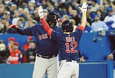 4/8/2016 at Rogers Centre | David Ortiz knocked in two runs, Brock Holt first career grand slam drove in career-high five runs (Photo by Tom Szczerbowski/Getty Images)