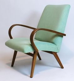 Vintage Mid Century Modern Czech Easy Lounge Chair Ton Expo 58