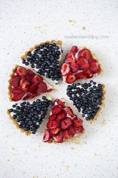 ... strawberry and blueberry tarts ...
