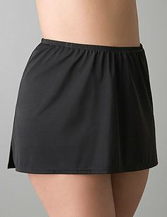 Lane Bryant Slitted swim skirt - Women's Plus Size/Black - Size 20 Bikini For Curves, Modest Bikini, Flattering Swimsuits, Plus Size Workout, Full Figured Women, Swim Skirt, Summer Outfits Women, Plus Size Swimwear, Plus Size Outfits