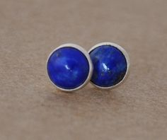 Lapis Earrings with Sterling Silver Earring studs, 6mm Lapis Lazuli Gemstones