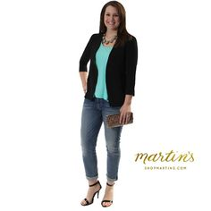 Every girl needs a pair of comfy boyfriend jeans! Get the look with the 7 for all mankind Josefina feminine boyfriend jeans ($210) Umgee Blazer($40) Z Supply Mint Tank($24) madden girl Dafney heels($39.99) and the Lauren Hobo clutch($128) thedenimshop.com & shopmartins.com