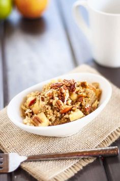 Apple Pecan Quinoa Breakfast via @wendypolisi