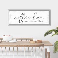 This sign makes perfect dining room canvas home wall decor. Warm Home Decor, Home Wall Decor, Canvas Home, Canvas Wall Art, Scandinavian Home Interiors, Police Gifts, Name Wall Art, Thing 1, Coffee Lover Gifts