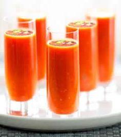 Gazpacho con gelatina de vodka