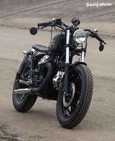 Moto Guzzi Nevada 350 bobber style by Galaxy Custom