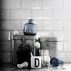 White beveled subway tile with oyster grey grout Kitchen Decor, Kitchen Inspirations, White Beveled Subway Tile, House Styles, Decor, Kitchen Interior, Home Kitchens, Grey Grout, Decor Styles