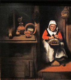 1 of 2 Berthi Smith-Sanders | Berthi's Weblog. The old kantwerkster. Posted 04-07-2014 by Berthi Smith-Sanders. Nicolaes Maes (1634-1693) was one of Rembrandt's pupils. From 1654 Nicolaes Maes focused on domestic scenes with one or two figures. Bobbin lace income women, women spinning, apple different girls and maids as 'eavesdropping' are the subjects of his paintings from this period. (see more of description on 2 of 2, a detail of this picture). translated from Dutch with Google…