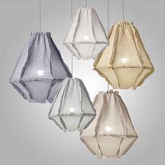 Cumulus Linen Pendant Light, Medium - All For Decoration Pendant Lighting Bedroom, Pendant Lamp, Cumulus, Diy Luminaire, Small Pendant Lights, Light Pendant, Shop Lighting, Wabi Sabi, Lampshades