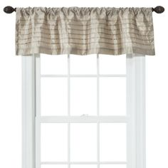 """Purchase a color the coordinates with the artwork & the navy blue of the futon cover.  Threshold™ Silk Window Valance - (54x15"""")"""