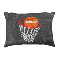 Personalized Basketball and hoop design on a dark and light gray chalkboard design background. Just alter the name to create a unique basketball gift for the basketball fan or player or team awards or incentives