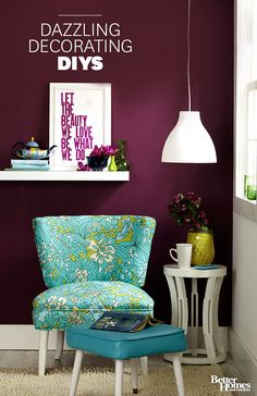 Do-it-yourself decorating allows you to customize your home, apartment, condo, or room with DIY accents that transform your space on a budget without completing a full-scale remodel. Whether you're a beginner or an expert, we guide you with instructions, tutorials, and step-by-step photos for indoor and outdoor projects and room makeovers. We have tips, techniques, and tools to get you started on paint projects, the easiest way to freshen up a space or decor item. But it doesn't stop there…