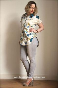 My tunic length kalle shirt by closet case patterns in Nani iro cotton